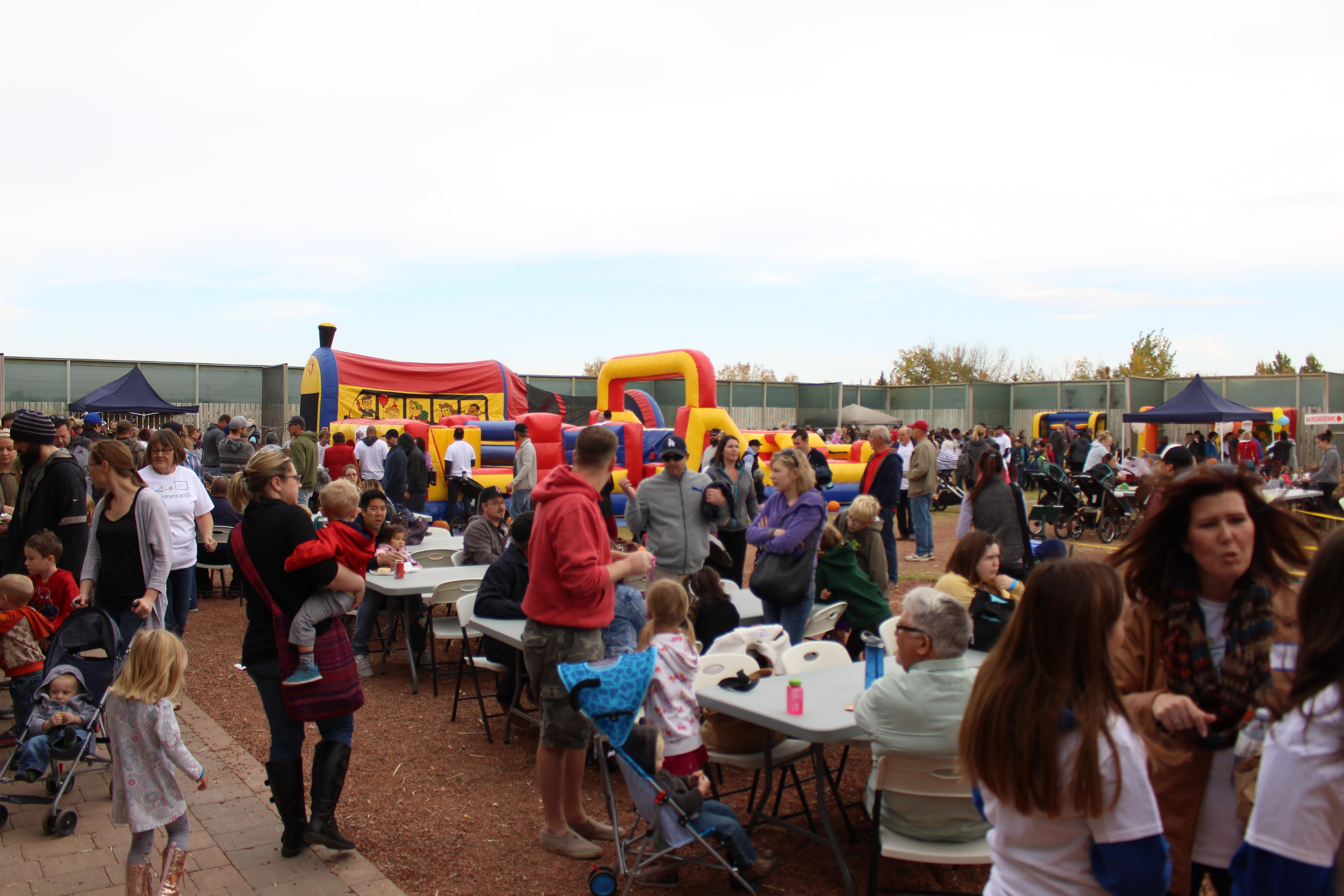 Lots of people came out to the Giant Pumpkin Festival for a day of fun and fundraising for the Children's Wish Foundation on Saturday Sept. 30, 2017
